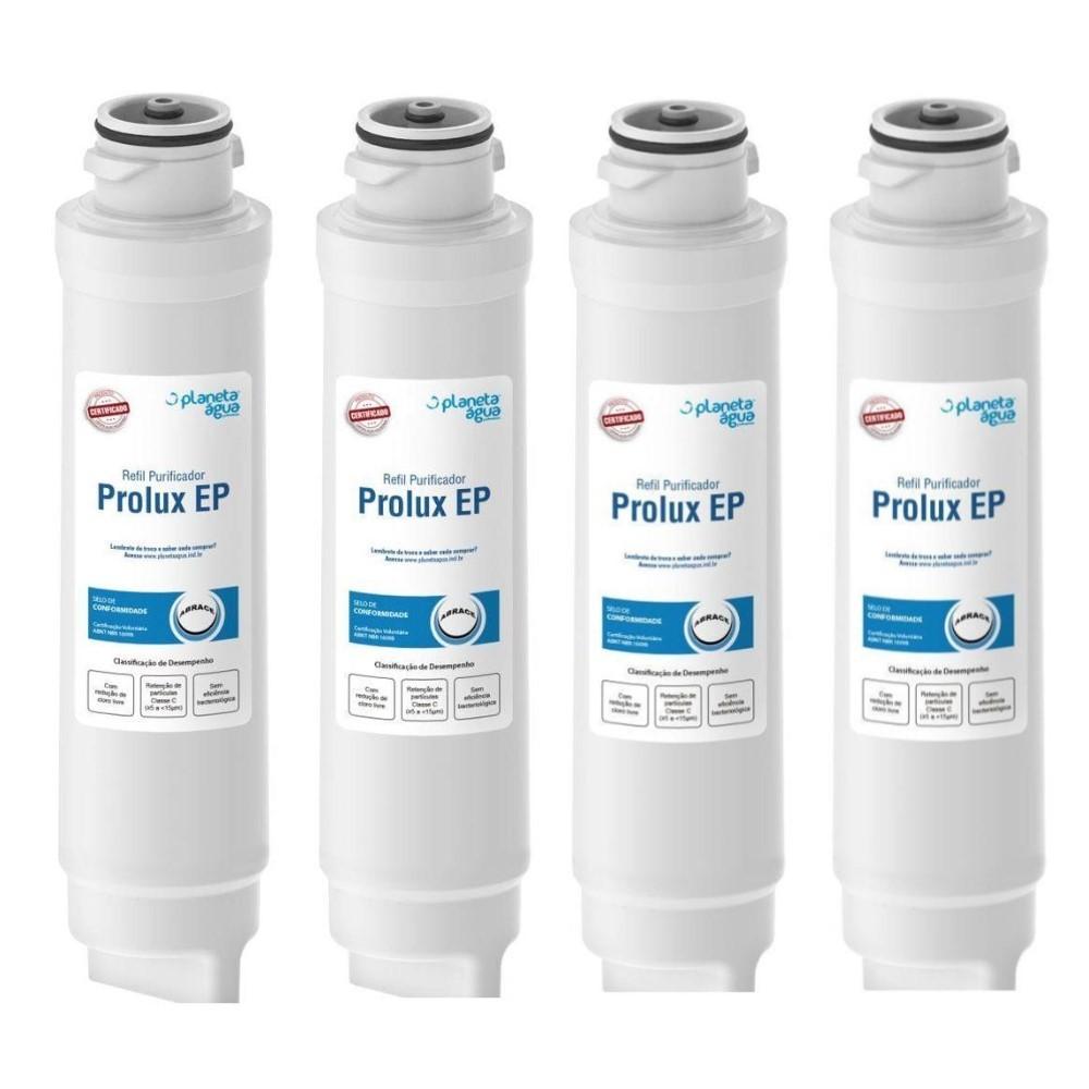 Kit 4 Refil Filtro Purificador De Água Pappca20 Prolux Ep Para Electrolux Pe10b E Pe10x - 1082 Certificado Inmetro