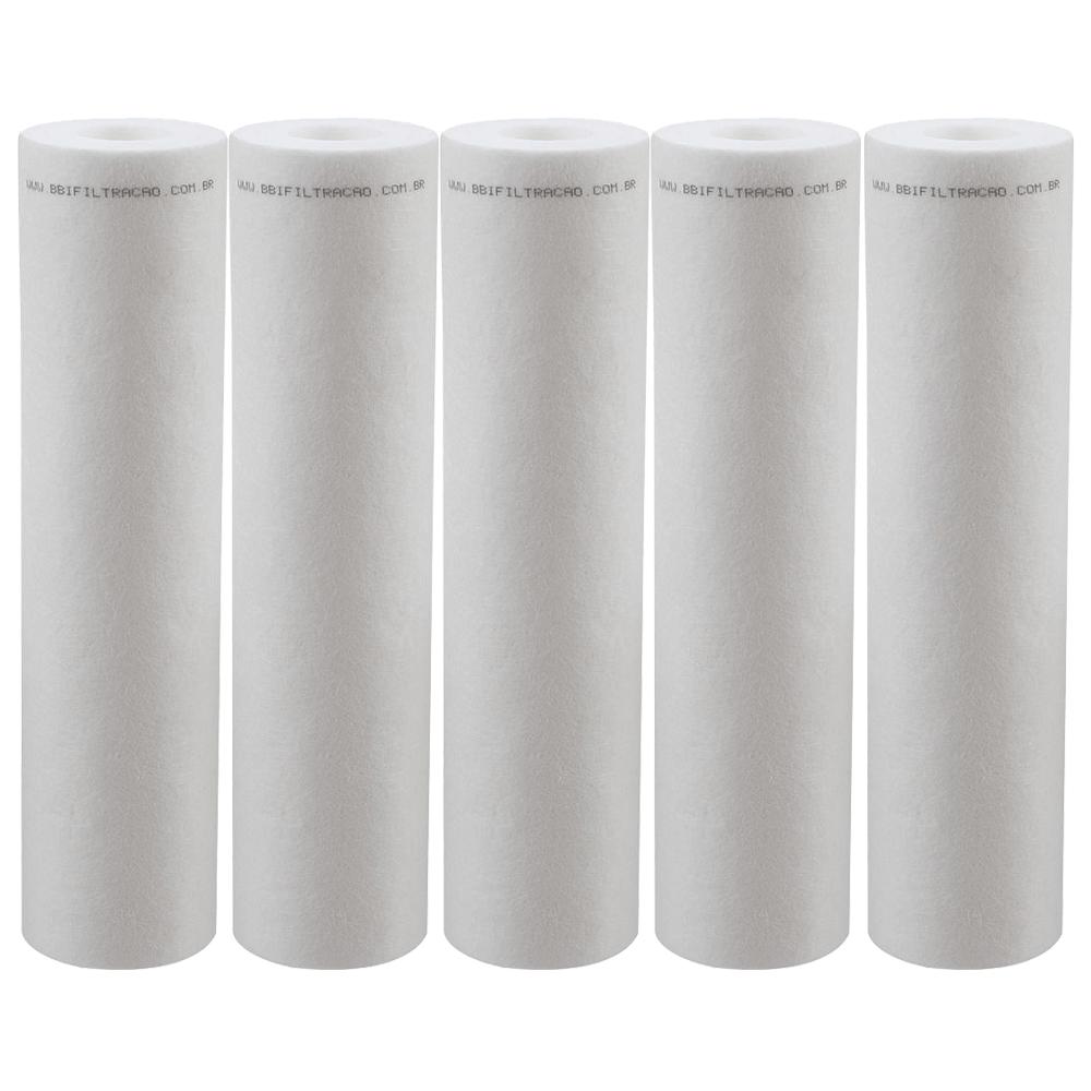 Kit 5 Unidades Refil Filtro Polipropileno BBI 9