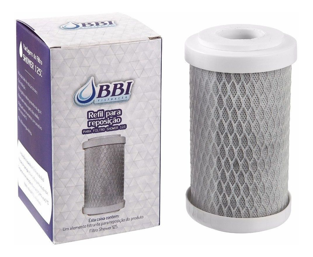 Kit 6 Refil P Filtro Chuveiro Shower Bbi Shower125 5 Carvão  - SUPERFILTER