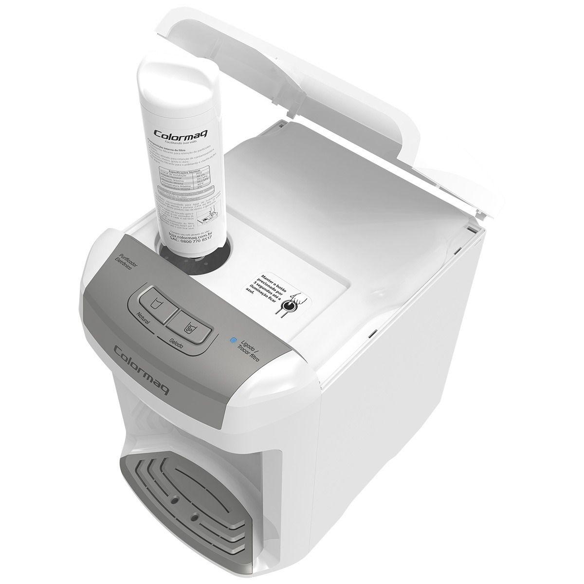 Purificador de Água Gelada Branco Colormaq Acqua Refrigerado Bivolt