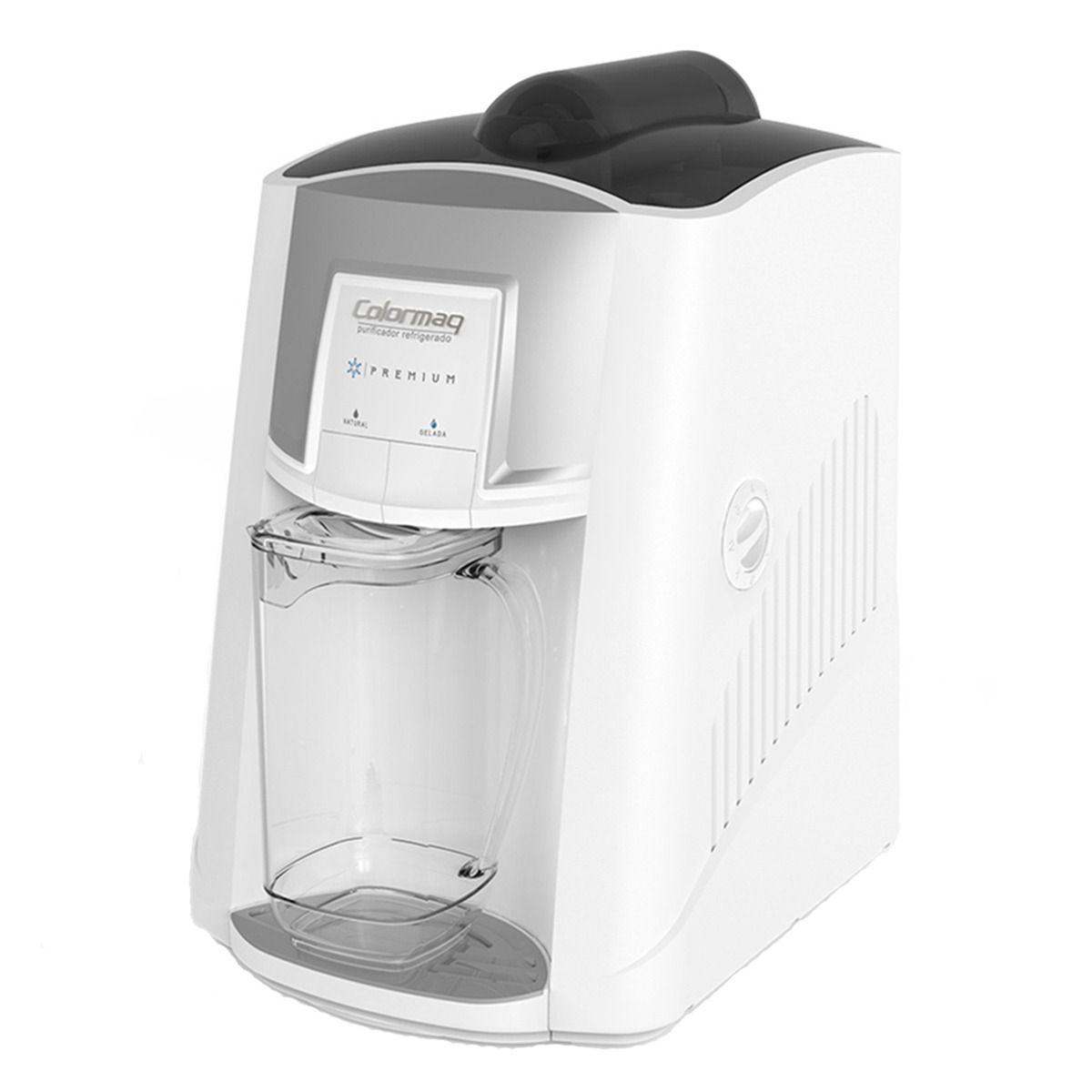 Purificador de Água Gelada Colormaq Premium Branco Compressor + 2 Refis extra