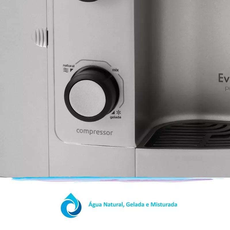 Purificador de Agua Gelada Refrigerado IBBL Evolux Prata