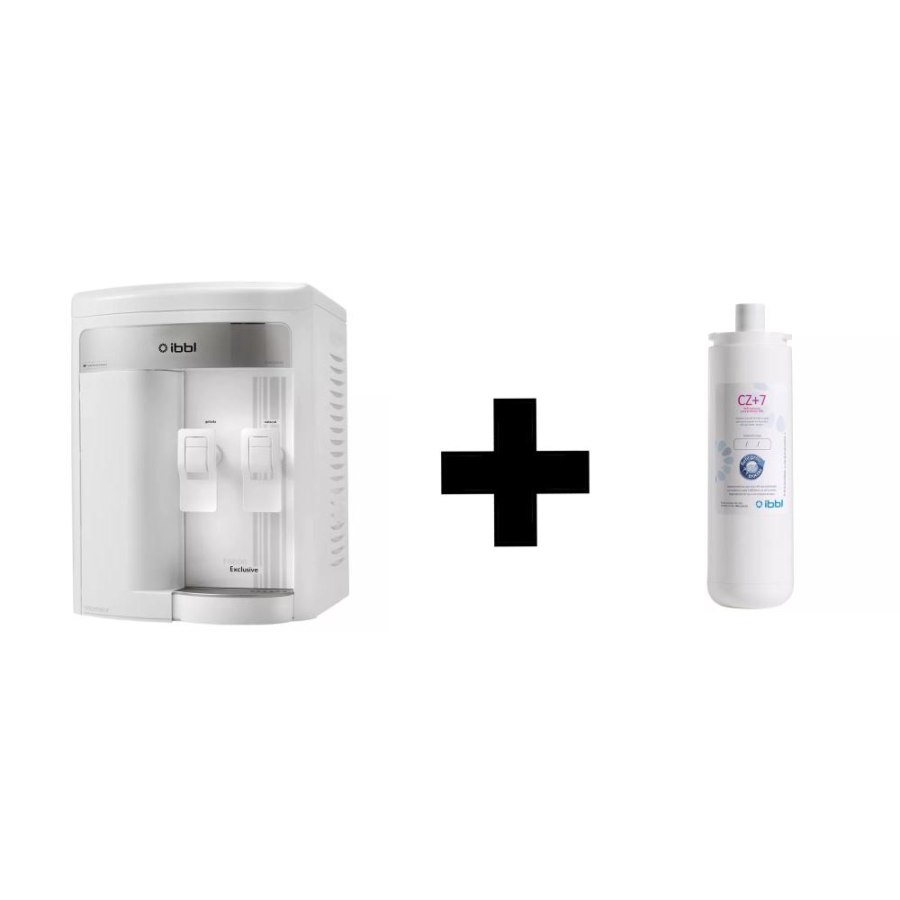 Purificador de Agua Gelada Refrigerado IBBL FR600 Exclusive Branco + Refil extra