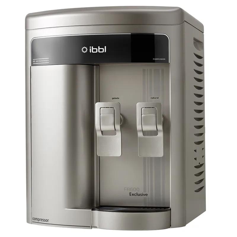 Purificador de Agua Gelada Refrigerado IBBL FR600 Exclusive Prata + Refil Extra