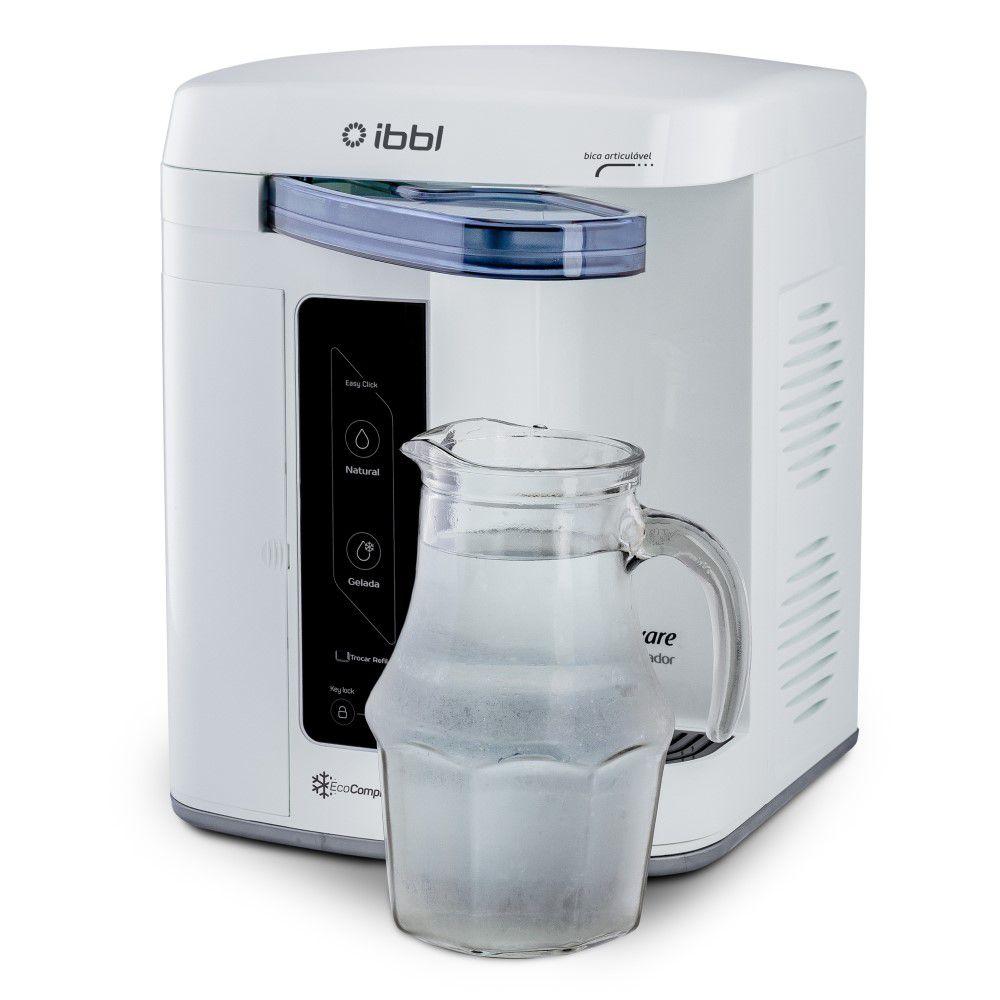 Purificador de Agua Gelada Refrigerado IBBL Innovare Branco 220v + Refil Extra