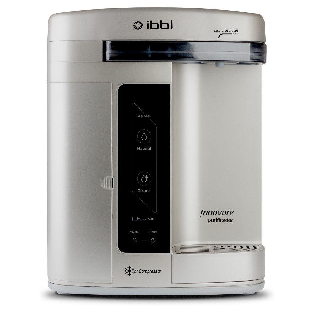 Purificador de Agua Gelada Refrigerado IBBL Innovare Prata 110v