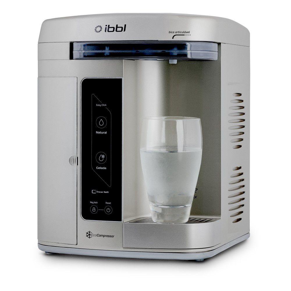 Purificador de Agua Gelada Refrigerado IBBL Innovare Prata 220v + Refil extra  - SUPERFILTER
