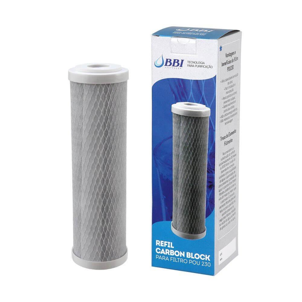 Refil Carbon Block 9' 3/4 BBI REP-POU 230 para filtro F230POU/BR e F230POU/TR