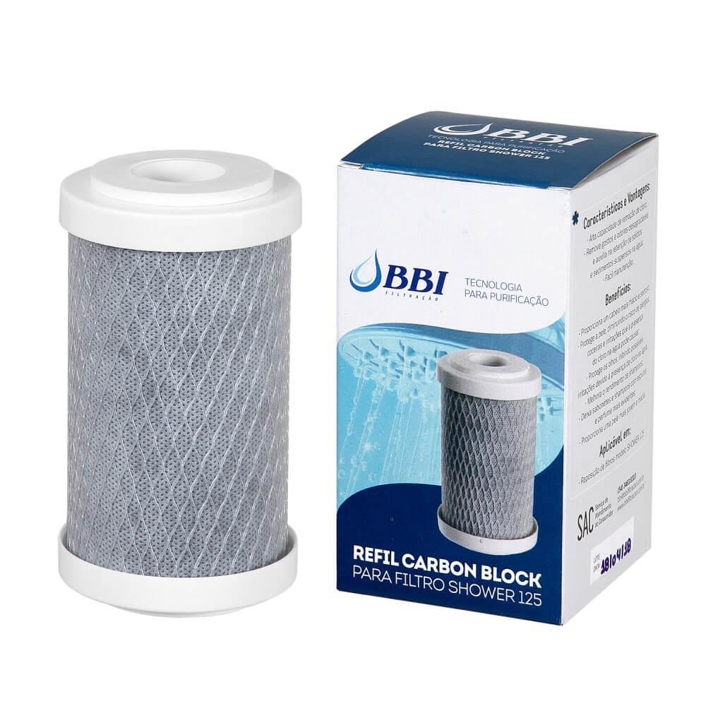 Refil Carbon Block BBI para Filtro Shower 125 BR e 125 TR REP-SHOWER