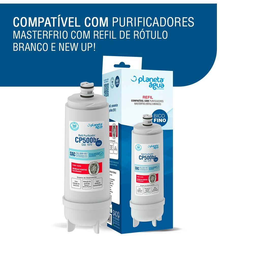 Refil CP500BR p/ purificador Masterfrio e Newmaq New.up  - SUPERFILTER