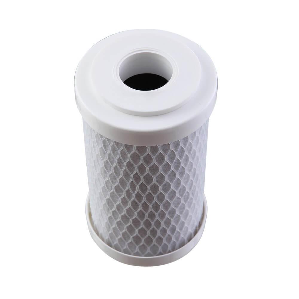 """Refil Filtro BBI Carbon Block Encaixe para Carcaças 5"""" x 2,5"""" - E125/5 Encaixe Compatível Acqua 125 Hidrofiltros POU 5"""" FIT 5"""" Planeta Água"""