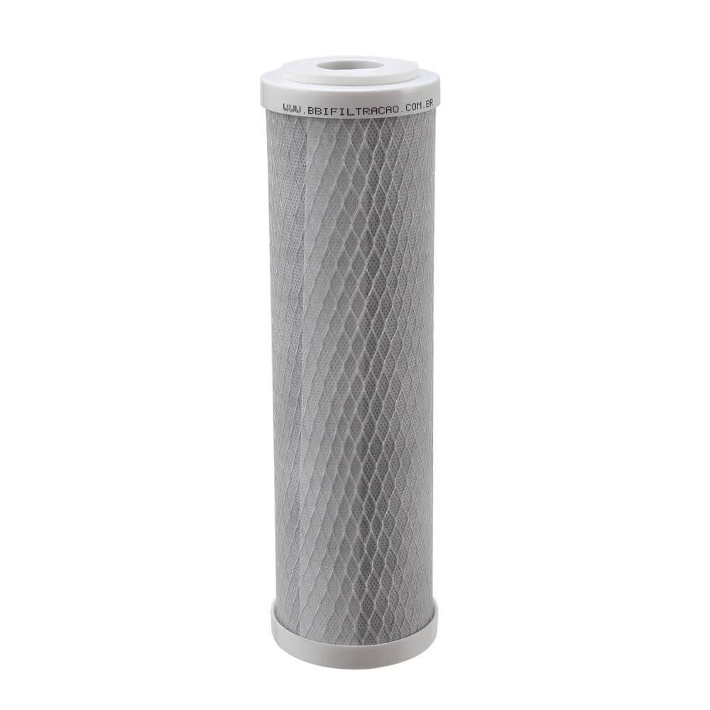 """Refil Filtro BBI Carbon Block Encaixe para Carcaças de 9""""3/4 x 2,5"""" - E230 Encaixe Compatível Hoken, Acquastar, GoldFilter e outras"""