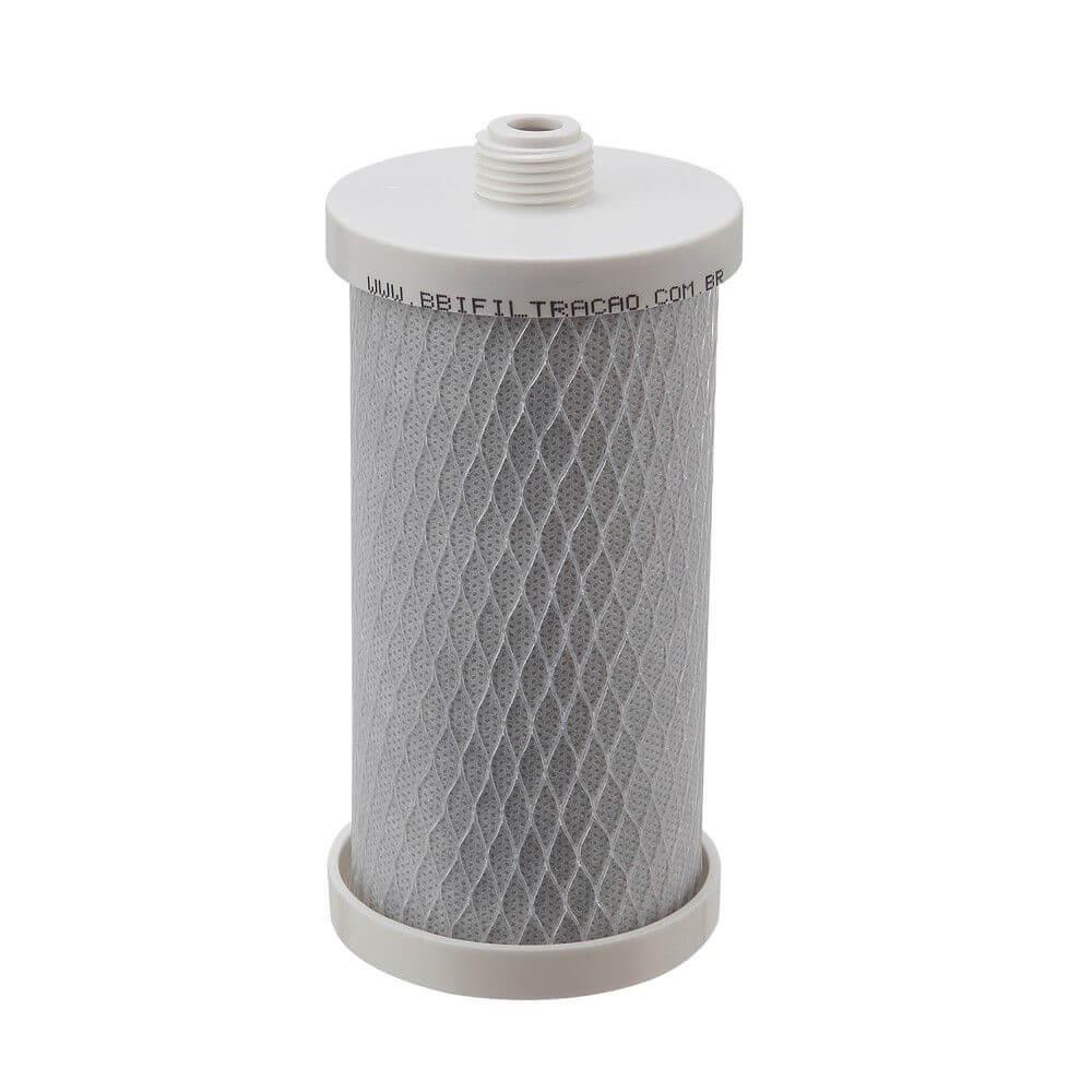Refil Filtro Carbon Block BBI 7pol. R200 de Rosca Compatível com Acqua 200