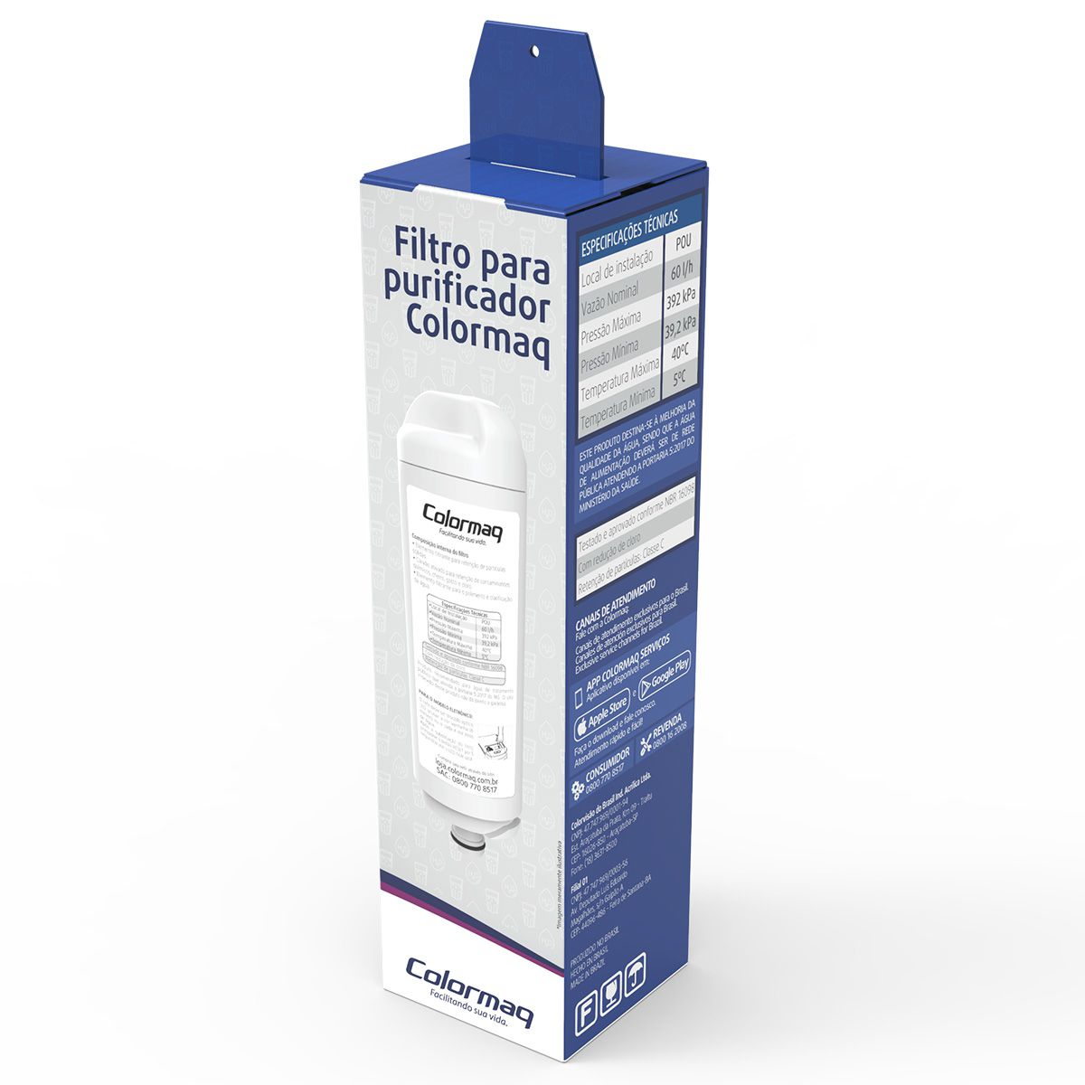 Refil Filtro Para Purificador Colormaq Acqua Eletronico e Compressor Original