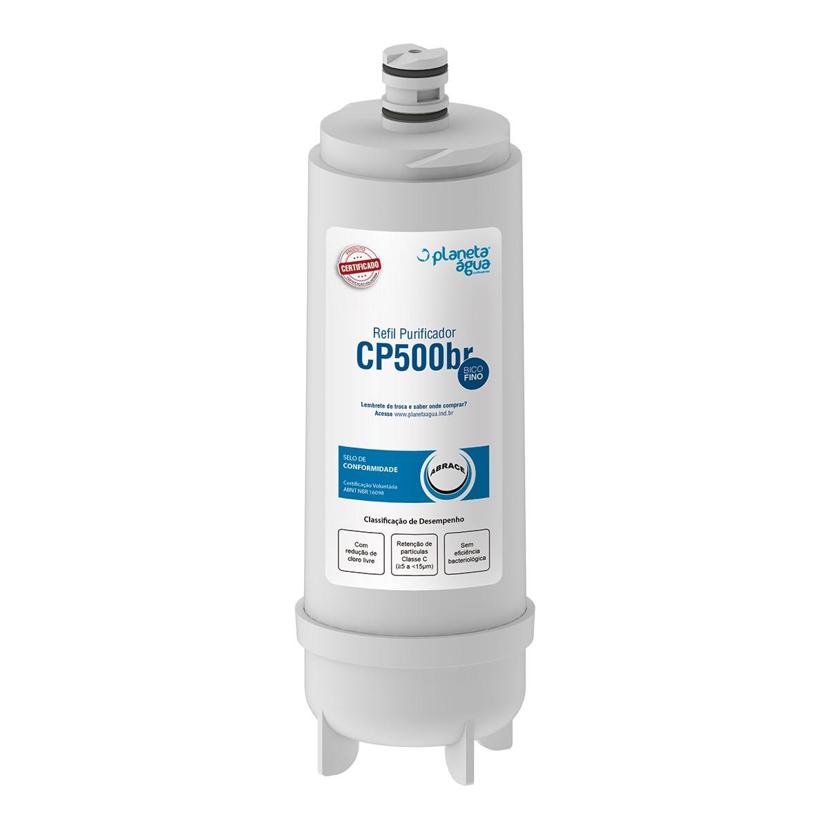 Refil Filtro Planeta Água CP500BR para Purificador de Água Master Frio Rótulo Branco e New Up