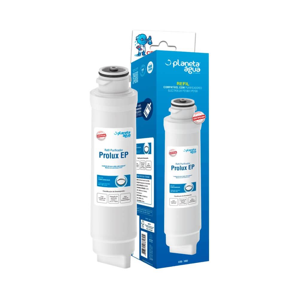 Refil Filtro Planeta Água Prolux EP 1082 Compatível com Purificador de Água Electrolux PE10B e PE10X