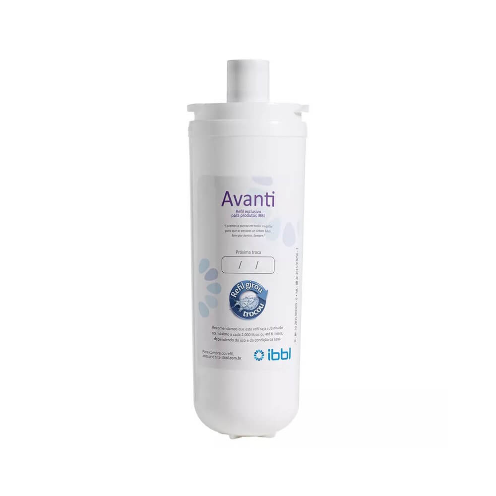 Refil Filtro Purificador de Água IBBL Avanti Original para Modelos Mio, Avanti e Viváx