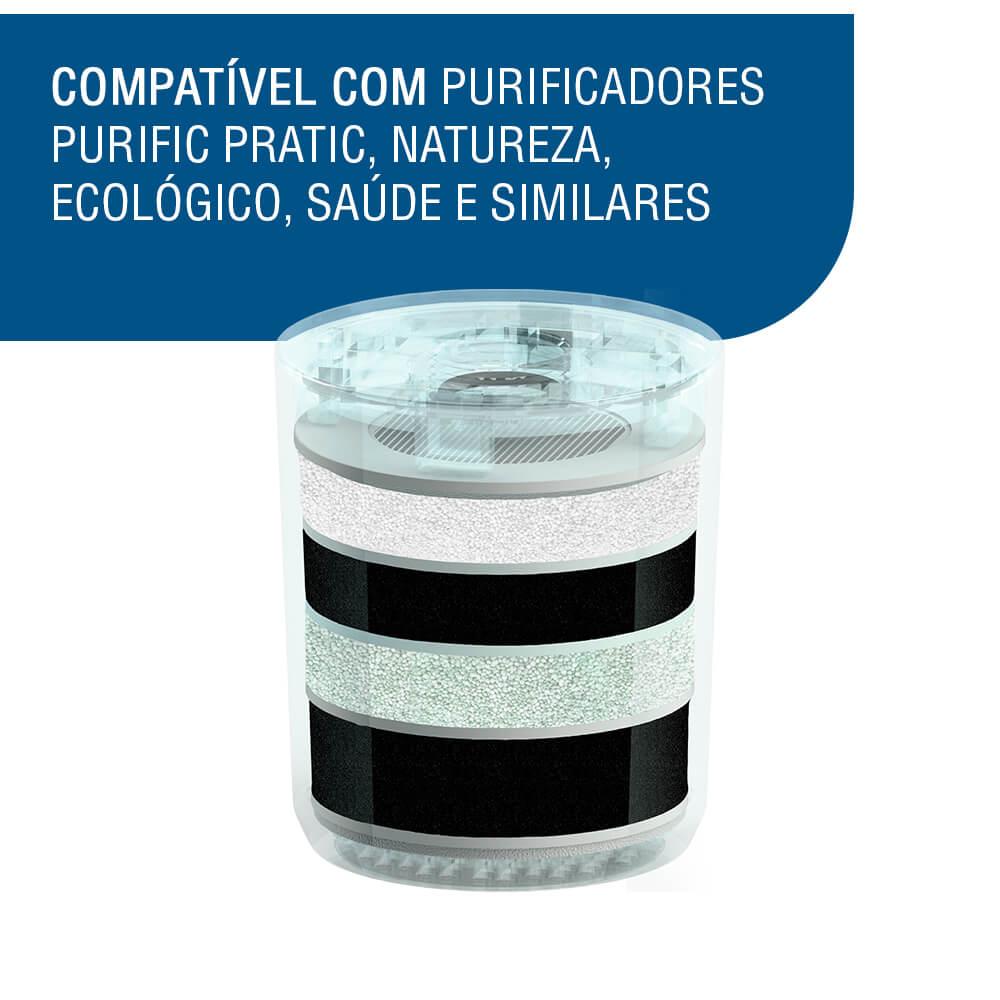 Refil Filtro Purificador Purific Camadas Pratic Ecológico Saúde