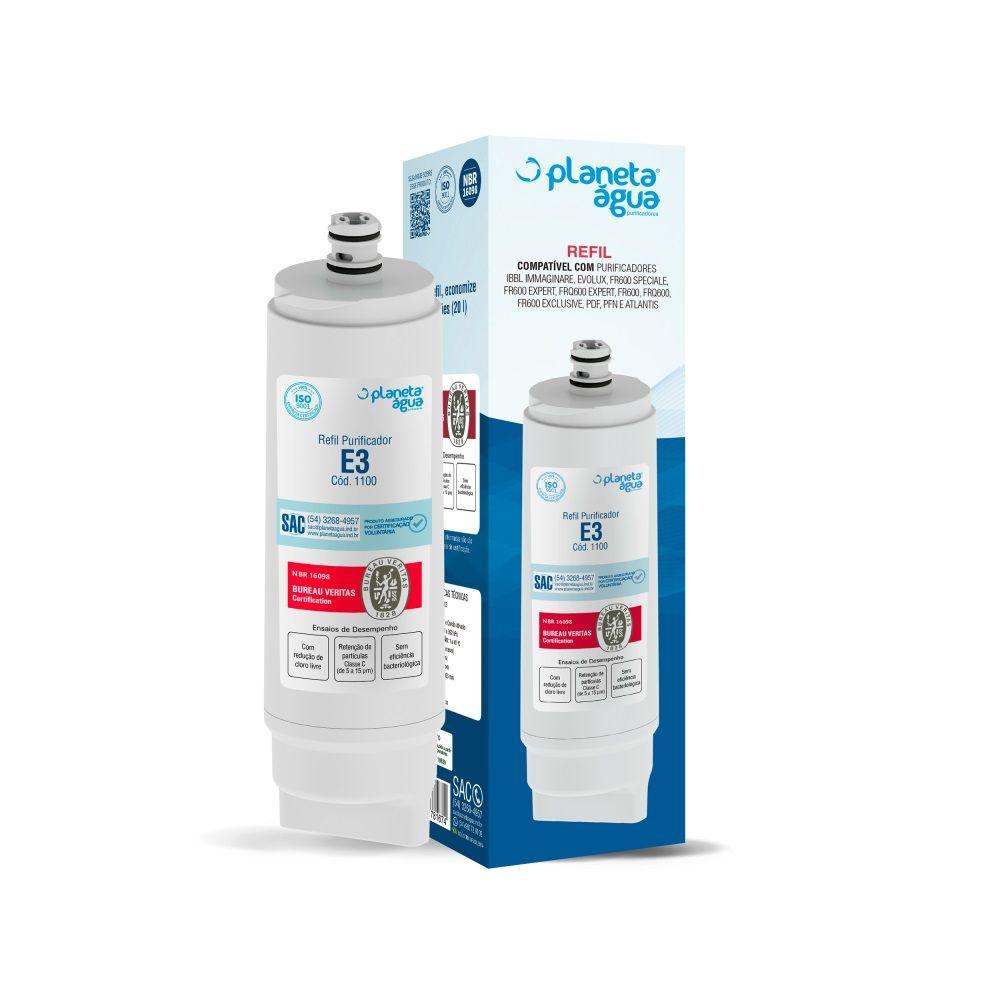 Refil Filtro Planeta Água E3 1100 Compatível com IBBL Fr600 Immaginare Evolux