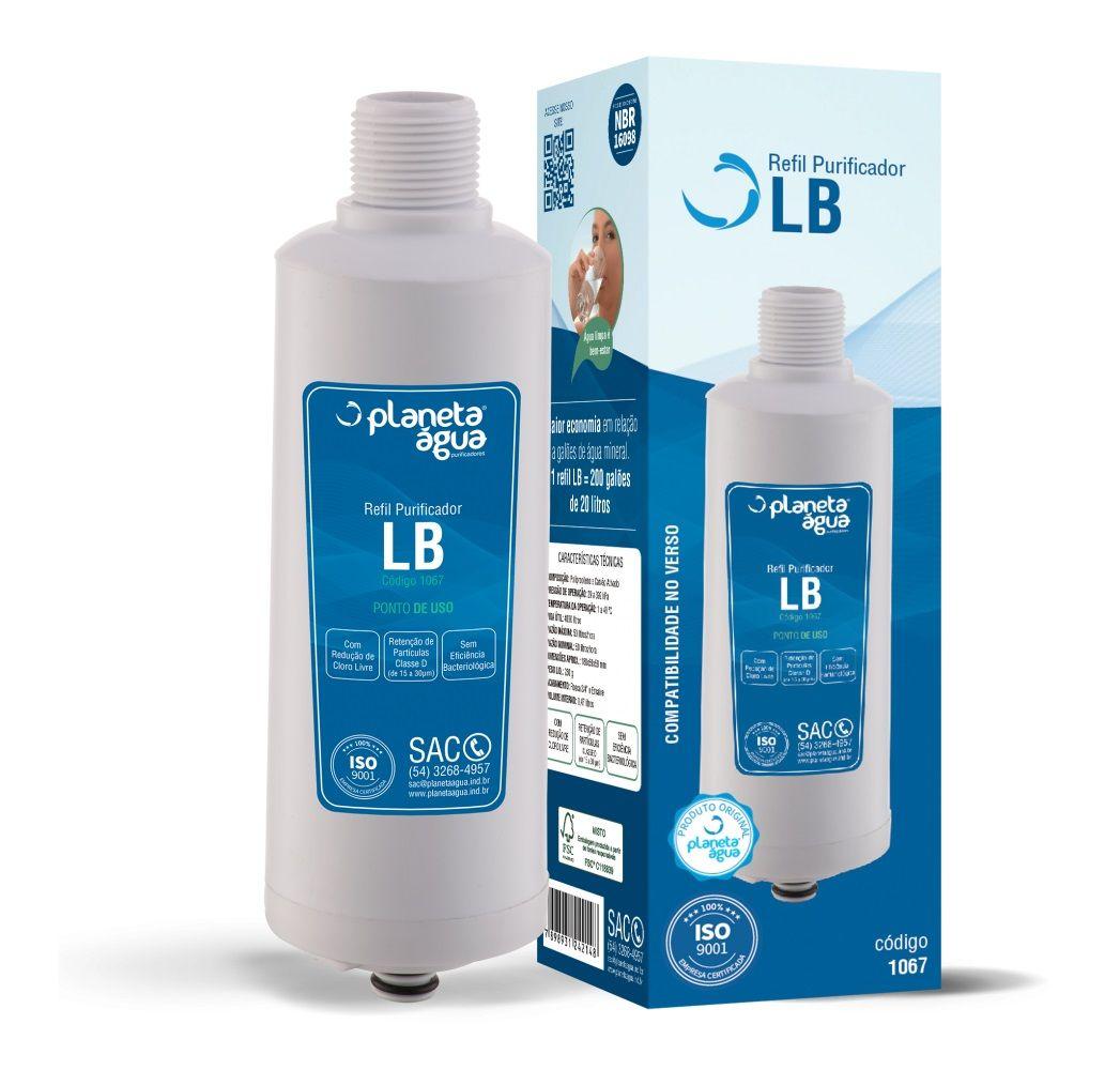 Refil Filtro Planeta Água LB compatível com Purificador de Água Libell Acqua Flex