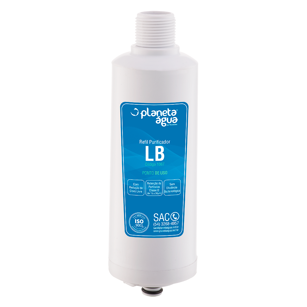 Refil Filtro Planeta Água LB compatível com Purificador de Água Libell Acqua Flex  - SUPERFILTER