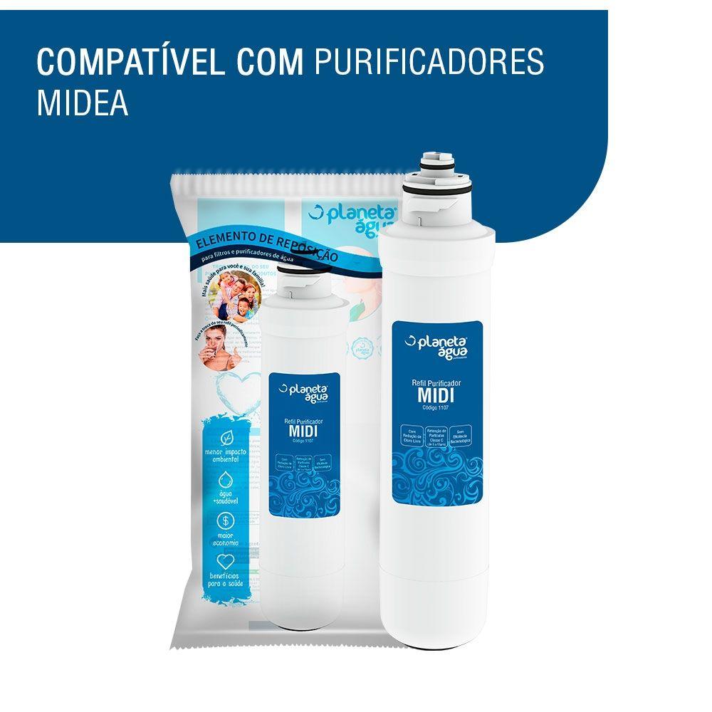 Refil MIDI p/ purificadores Midea Sensia e Liva  - SUPERFILTER