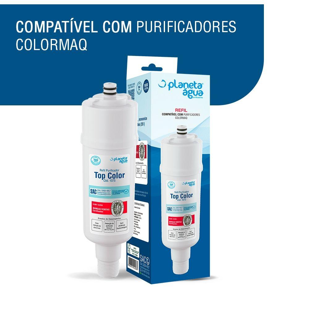 Refil Filtro Planeta Água Top Color Compatível com Purificador de Água Colormaq  - SUPERFILTER