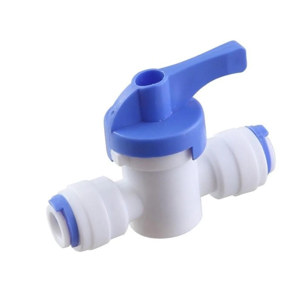 Valvula Registro Engate Rápido 5/16 X 5/16 Branca 8 Mm Para Filtro Purificador De Água Latina Bbi