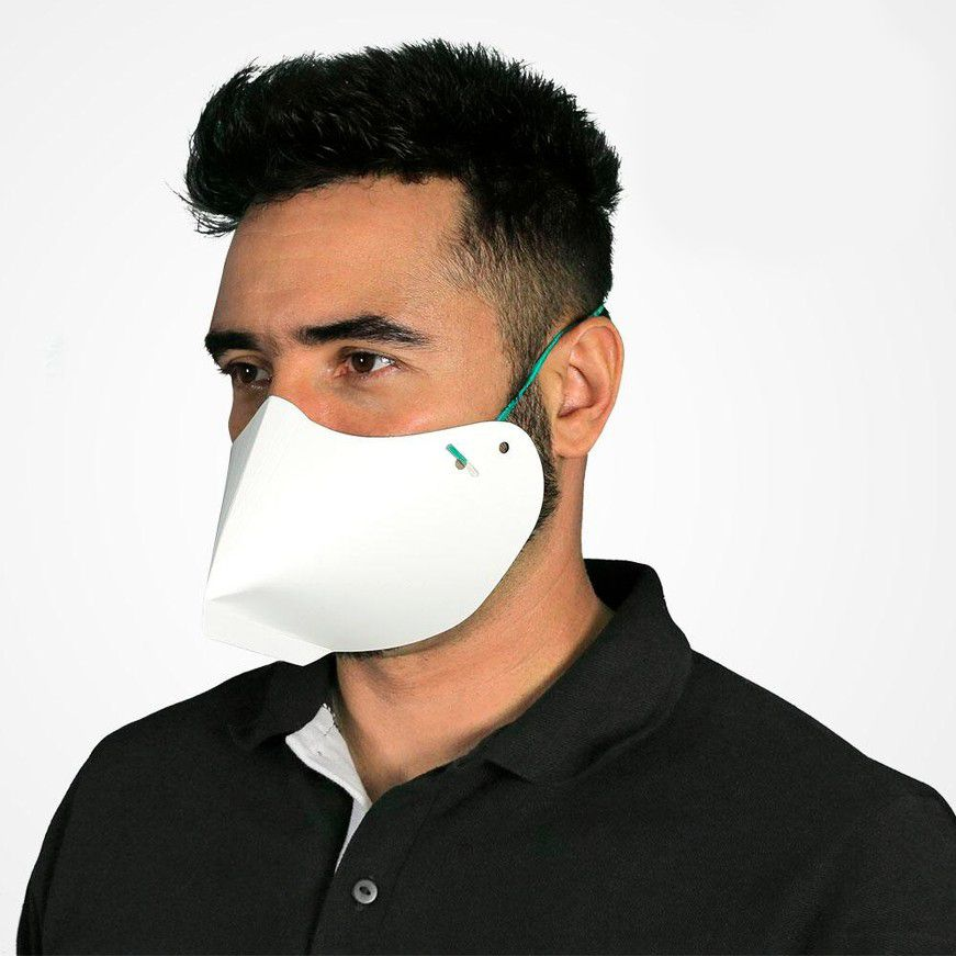 Máscara Reutilizável em Papel Especial 80 Unidades