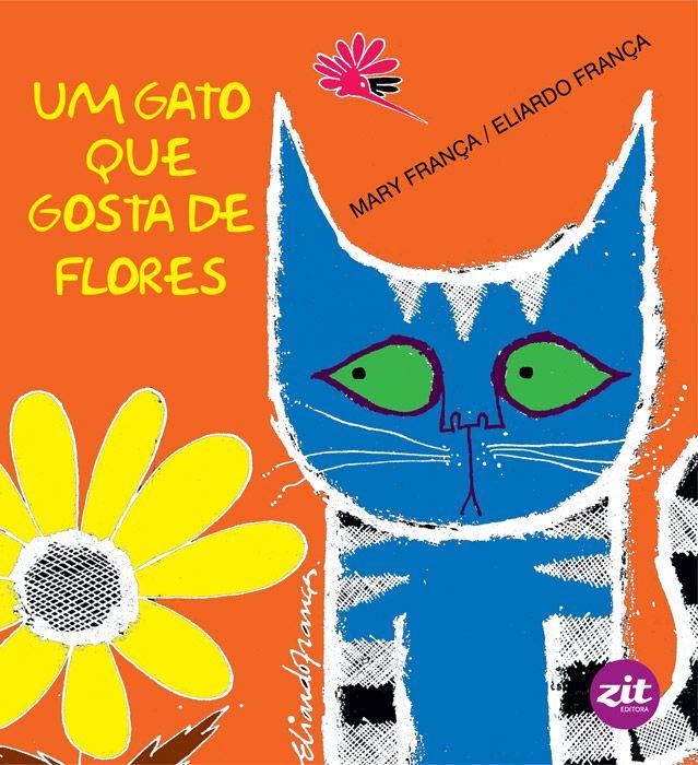 Um gato que gosta de flores