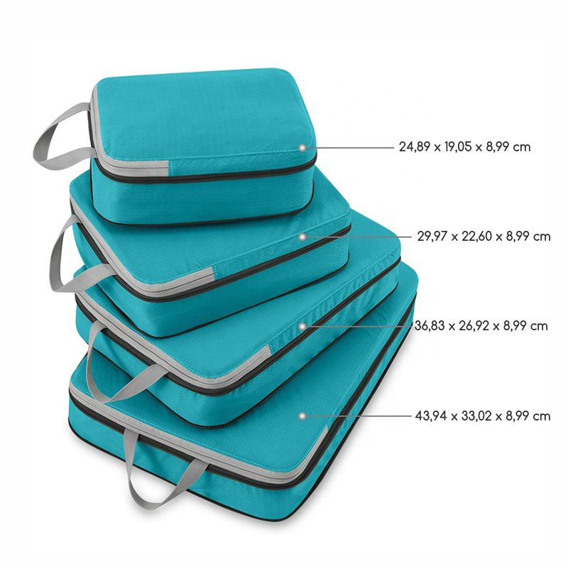 Organizador de Mala com Compressão  Kit 4 e Bag
