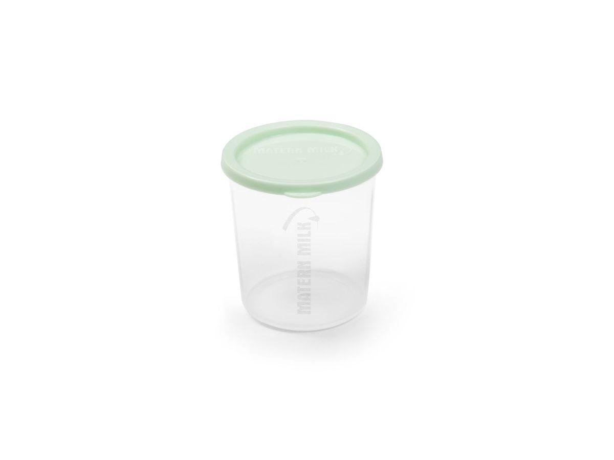 Bomba tira leite elétrico 110 V - Azul com 4 Copo dosador Verde 80 ml Matern Milk