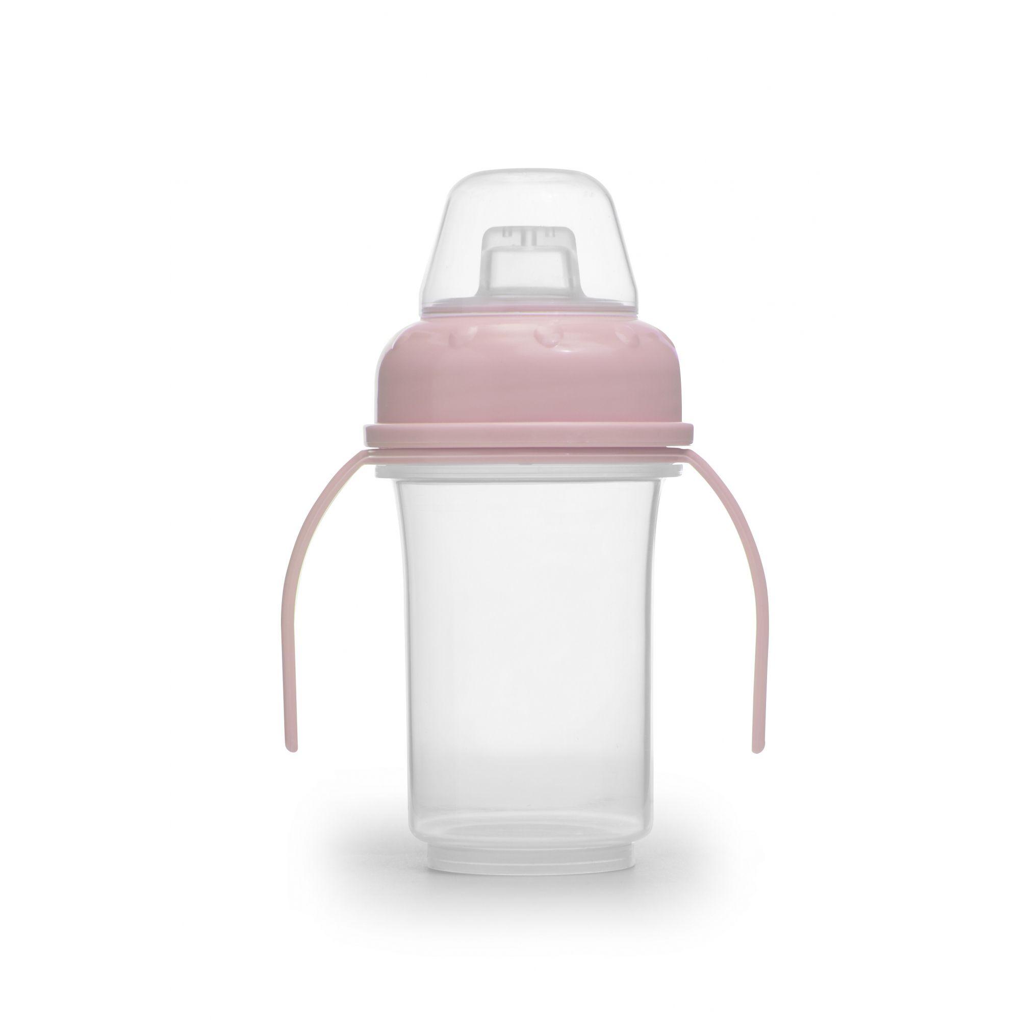 Bomba tira leite elétrico 110 V - Rosa com Copo de Aleitamento Rosa  150 ml Matern Milk