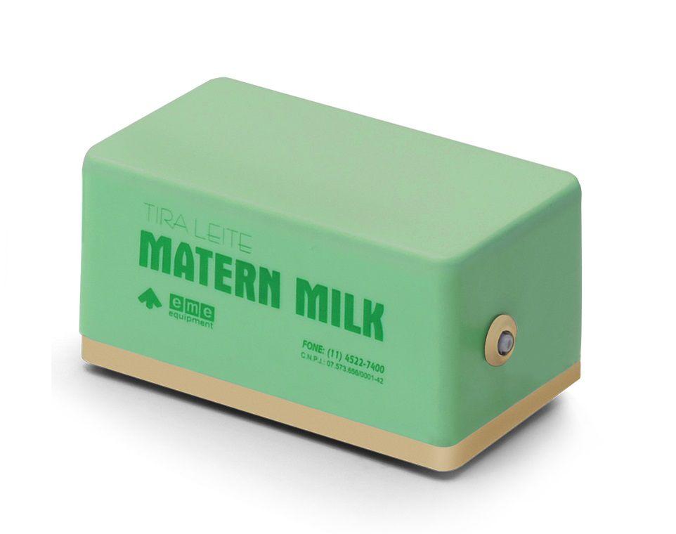 Bomba tira leite elétrico 110 V - Verde com Copo de Aleitamento Verde  150 ml Matern Milk