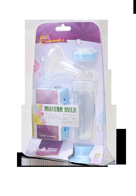 Bomba tira leite elétrico 110 V - Azul com Peças Extras para Esterilização - Matern Milk