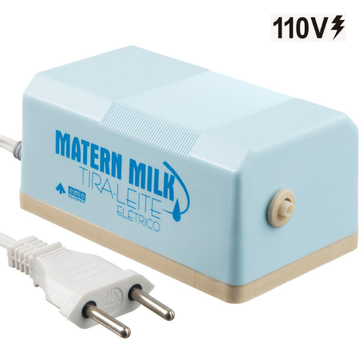 Bomba tira leite elétrico 110 V - Azul - Matern Milk