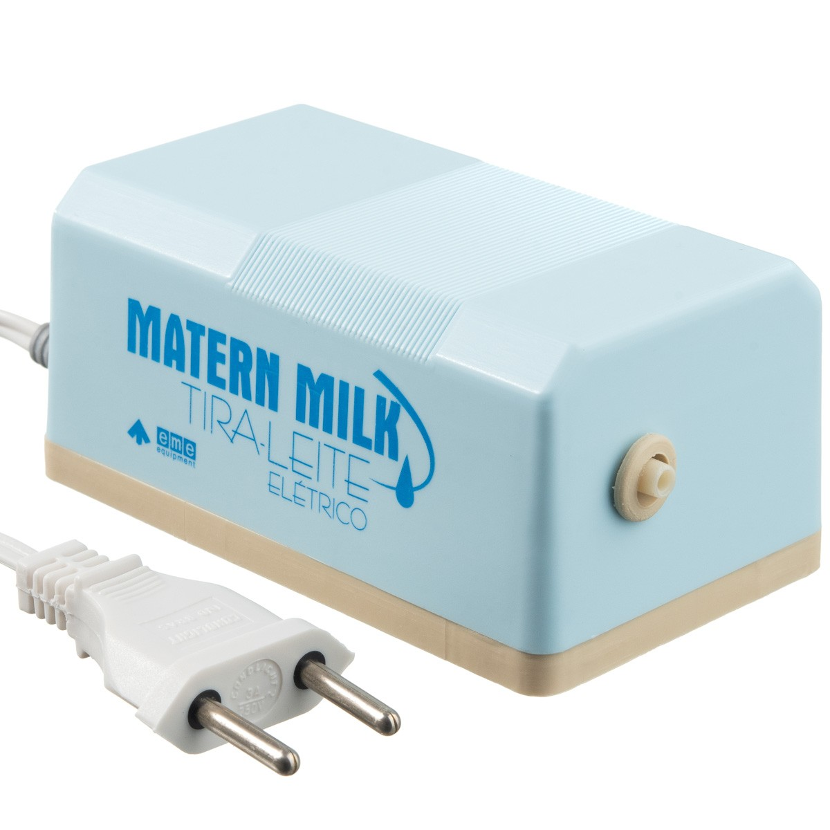 Bomba tira leite elétrico 110 V Azul - Matern Milk + 5 Copos