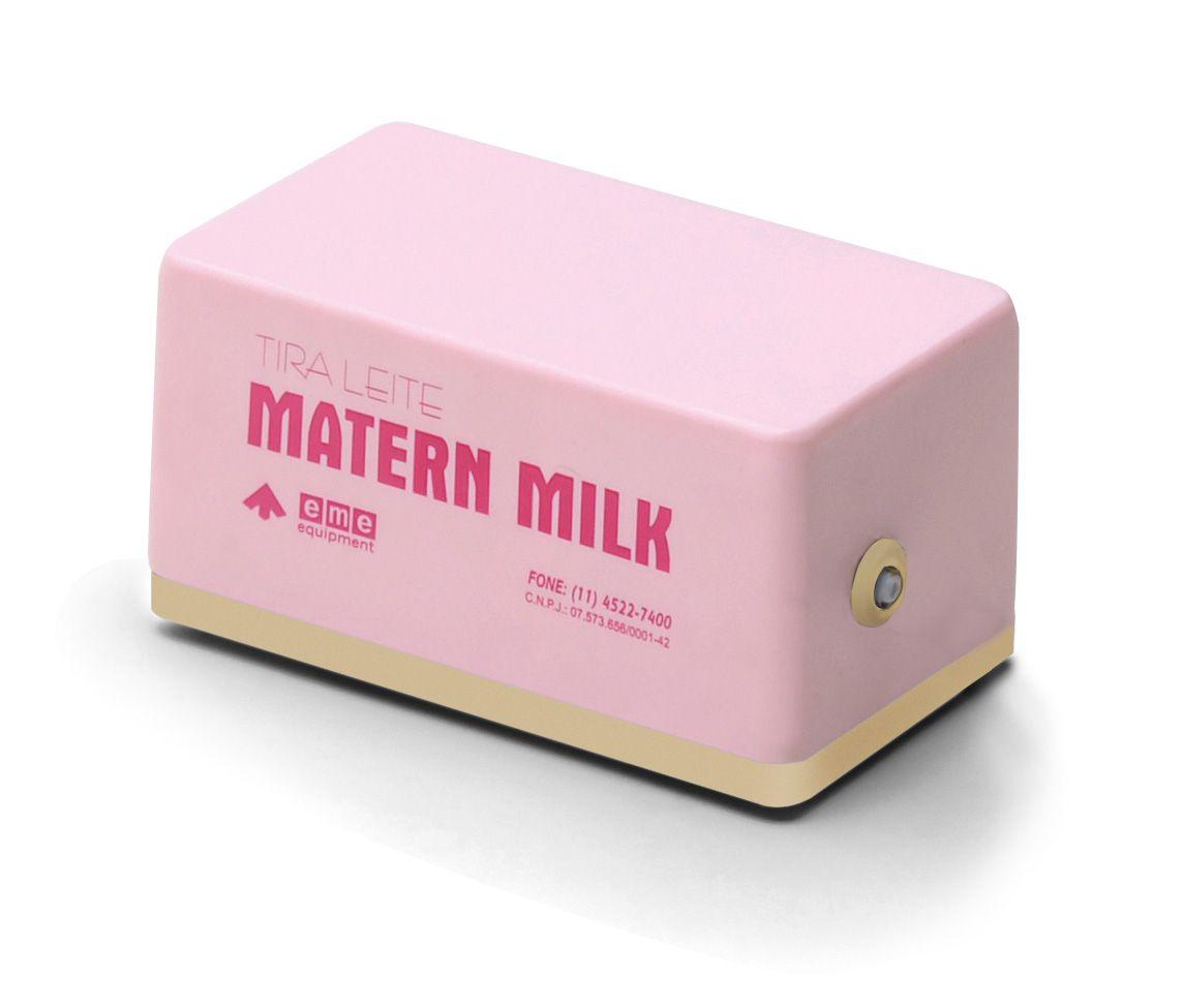 Bomba tira leite elétrico 220 V - Rosa com Peças Extras para Esterilização - Matern Milk
