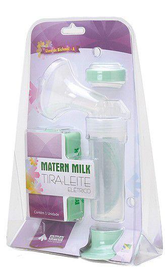 Bomba tira leite elétrico 220 V - Verde com Kit Copo dosador 80 ml (com 04 unid.) Verde Matern Milk