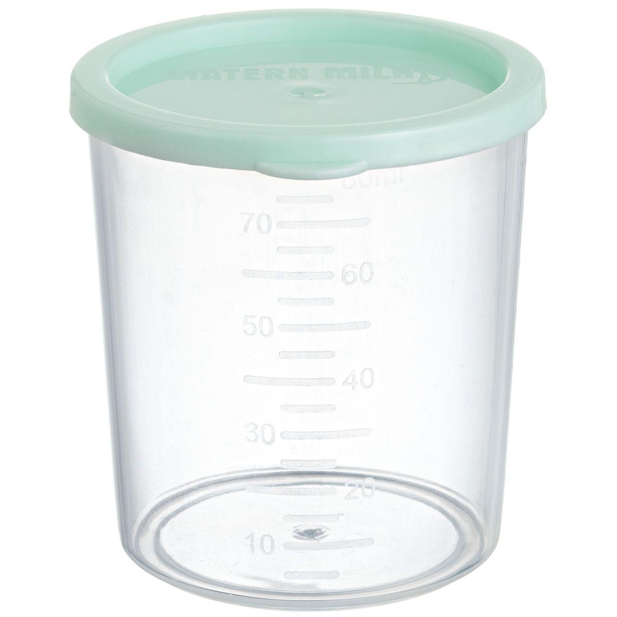 Copo de Aleitamento Materno Verde, 80 ml, (kit com 500 unid. a granel). polipropileno atóxico,graduação de 10 em 10 ml  Matern Milk.