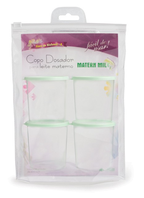 Copos Para Armazenamento de Leite Materno (blister com 4 unid.)  - Matern Milk
