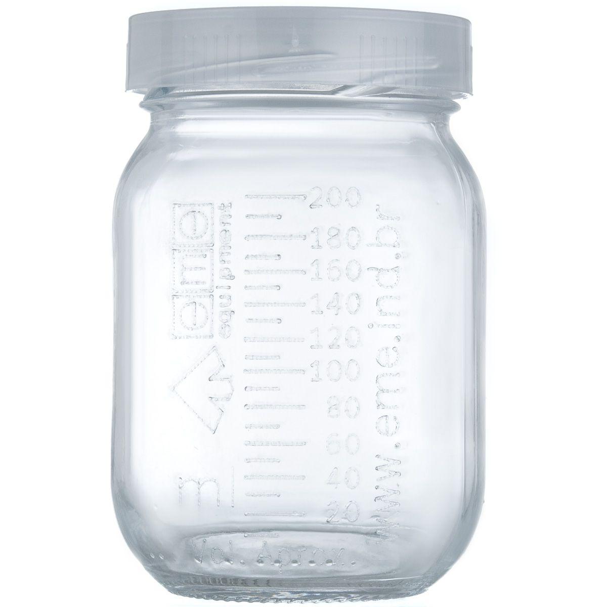 Frasco Graduado Matern Milk - 250 ml - Vidro