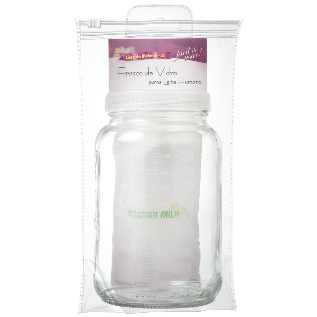 Frasco Graduado Matern Milk - 500 ml - Vidro