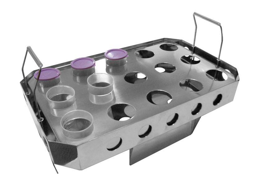 Galheteiro e suporte em aço inox -  Matern Milk
