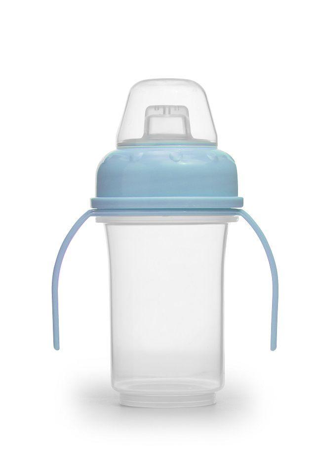 ( Kit com 3 unidades ) Copo de Aleitamento 150 ml Azul - Tira Leite Elétrico Matern Milk
