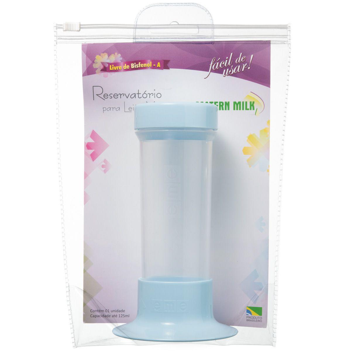 Reservatório para Leite Materno Azul 125 ml – peça avulsa do Tira Leite Matern Milk