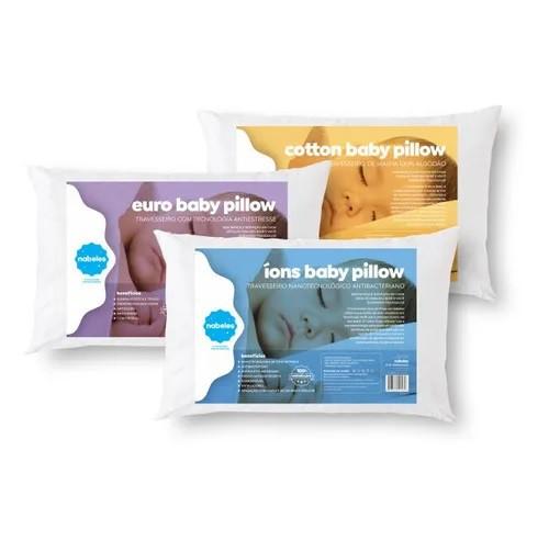 Travesseiro Para Bebês Nabeles - Euro Baby Pillow - Anti-Estress 30x40