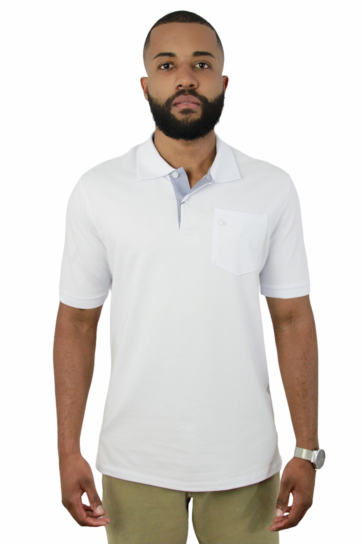 Camisa Polo Ogochi Mc Essencial Com Bolso 0001