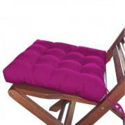 Assento Para Cadeira Futon 40x40 Cm - Rosa Pink