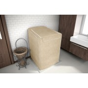 Capa para maquina de lavar Eletrolux, Brastemp, Consul 7, 8 e 9 KG Bege